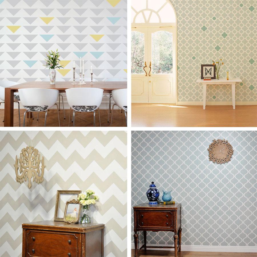 Cute stencils for your walls fabrics floors furniture clothing cute stencils amipublicfo Gallery